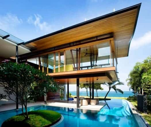 featured posts image for Modern tropical bungalow design by Guz Architects