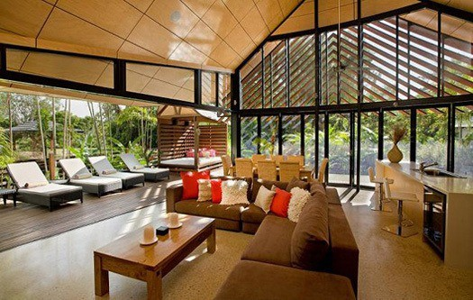 featured posts image for Angled exotic beach house on the Aussie waters