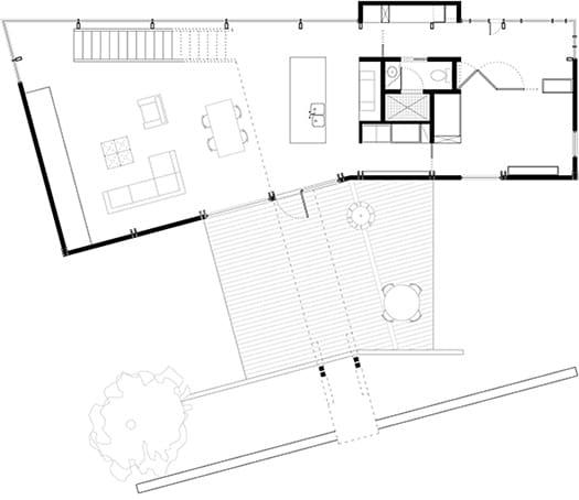 Strickland-Ferris Residence - Frank Harmon Architect-Floor Plan1
