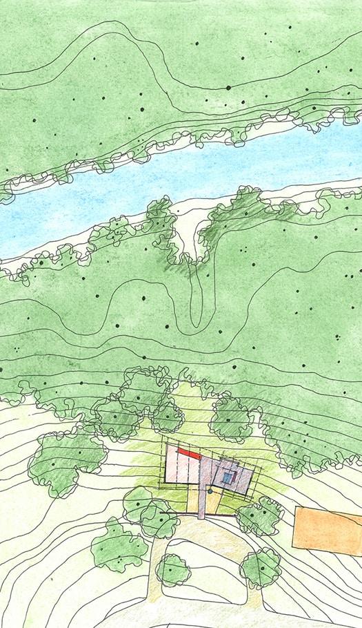 Strickland-Ferris Residence - Frank Harmon Architect-Site Plan
