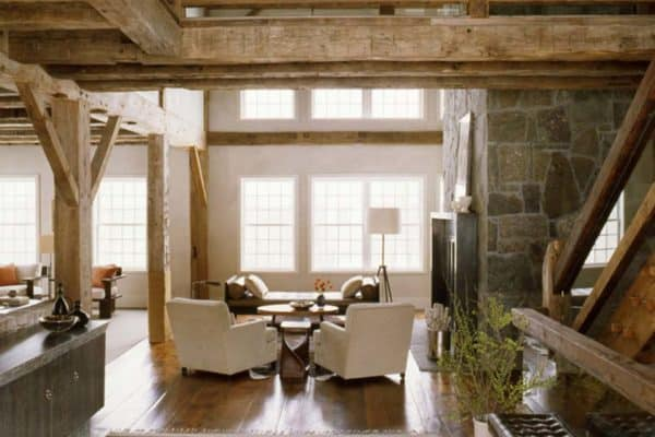 featured posts image for Tour this gorgeous modern rustic barn in rural Connecticut