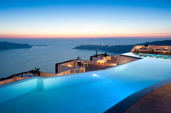 featured posts image for Santorini getaway carved into volcanic cliffs