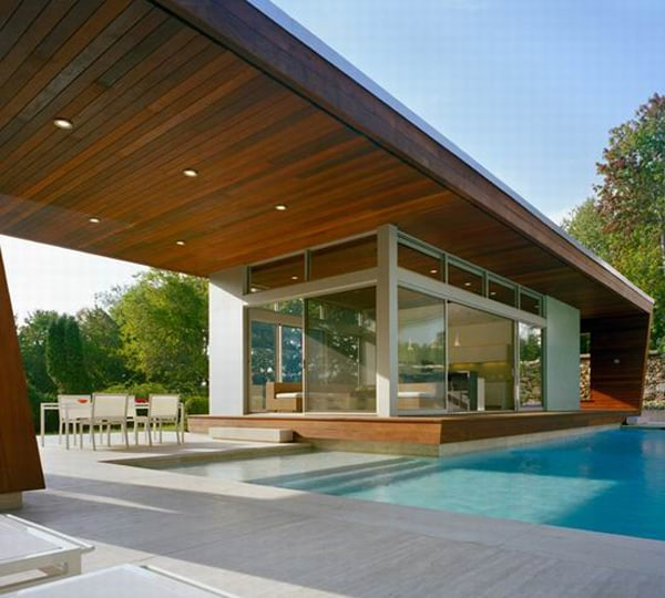 featured posts image for Modernist swimming pool house