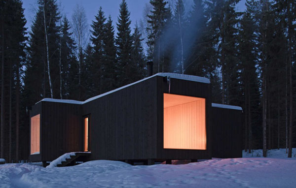 featured posts image for Modern four-cornered villa in Finland