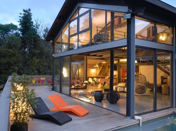 featured posts image for Modern steel and glass home in Toulouse