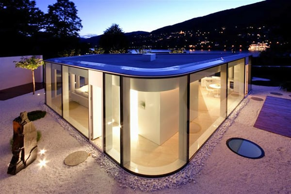 featured posts image for Rounded glass pavilion house on Lake Lugano