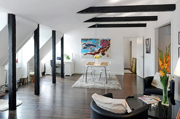 featured posts image for A very charming and stylish loft in Sweden