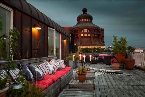 featured posts image for Swedish home with incredible rooftop terrace