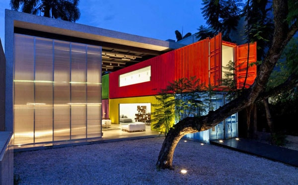 featured posts image for Bold and colorful design with shipping containers