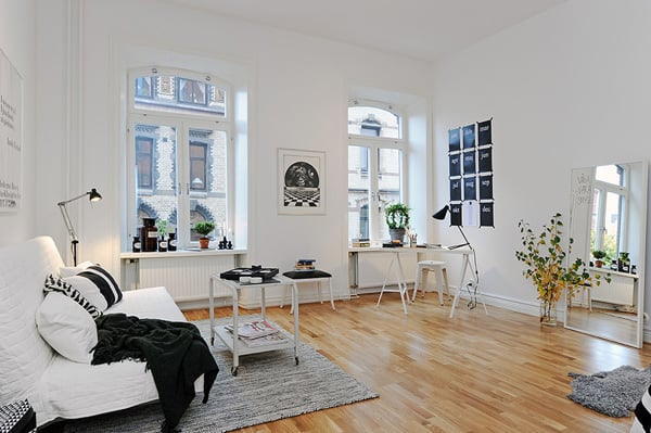 featured posts image for A stylishly renovated Swedish apartment
