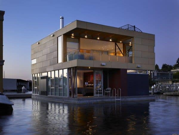 featured posts image for Contemporary floating home on Lake Union