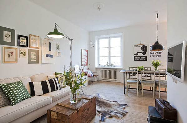 featured posts image for Charming and elegant Swedish flat