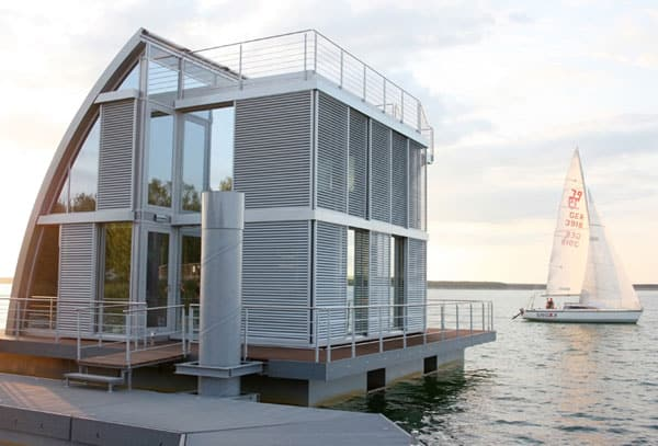 featured posts image for Incredible sailboat-inspired floating home