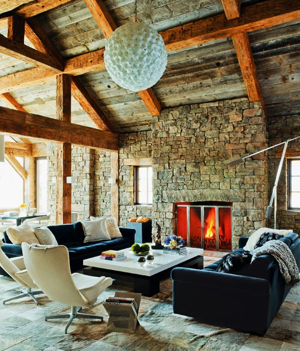 featured posts image for Rustic-modern ski house in Big Sky