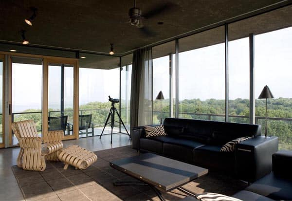 House on cedar hill with an observation tower - House on the hill 2012 ...