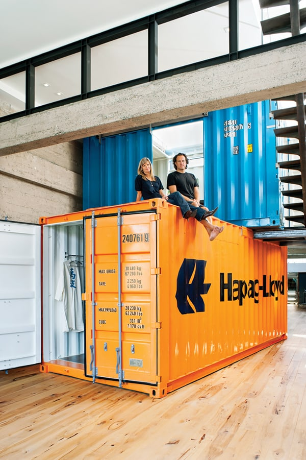 Innovative Shipping Container Loft Home