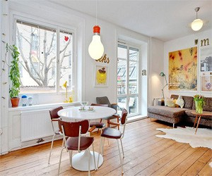 featured posts image for Stylish apartment with bursts of color in Stockholm