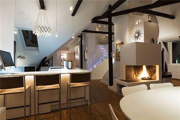 fascinating scandinavian interior design   Sumptuous Swedish loft with fascinating decor