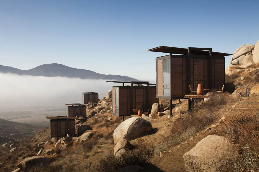 featured posts image for Sleek luxury cabins staggered among boulders