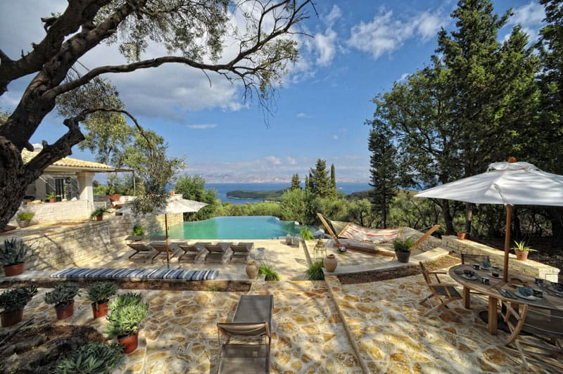 featured posts image for Stunning villa nestled on the hillside of Corfu Island