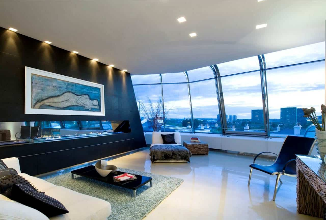 Breathtaking Steel And Glass Penthouse