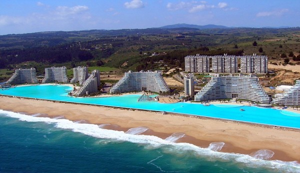 Worlds Largest Outdoor Pool At Chiles San Alfonso Del Mar Resort >> World S Largest Saltwater Swimming Pool In Chile