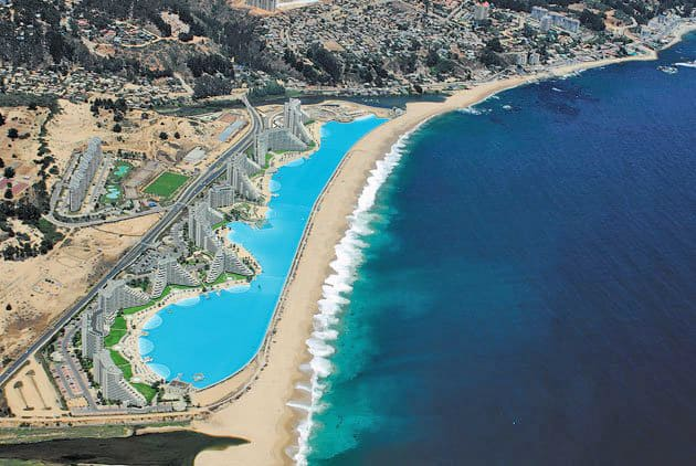 Largest Pool In Chile >> World S Largest Saltwater Swimming Pool In Chile