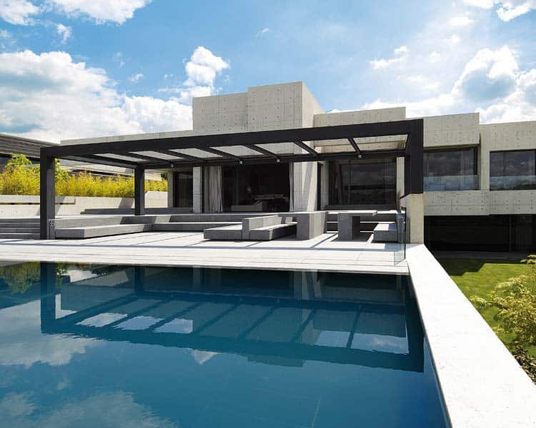 featured posts image for Sculptural home with clean lines in Madrid