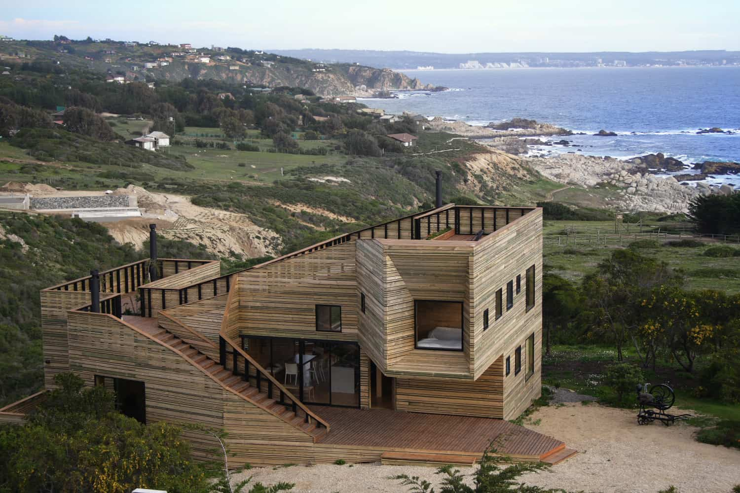 featured posts image for Stunning wood-cladded house in Chile