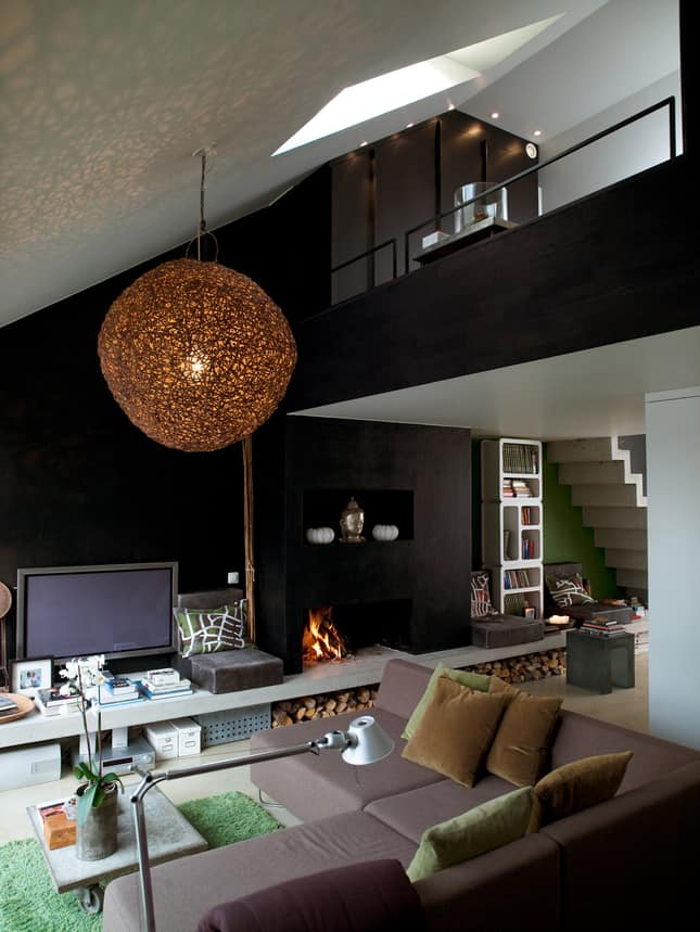 featured posts image for Cleverly designed attic studio in Stockholm