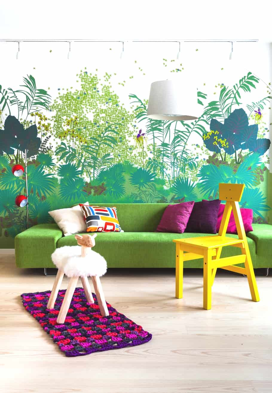 featured posts image for Bold and colorful Scandinavian penthouse