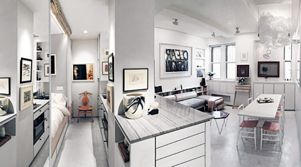 featured posts image for Impressive 375-square-foot Greenwich Village studio