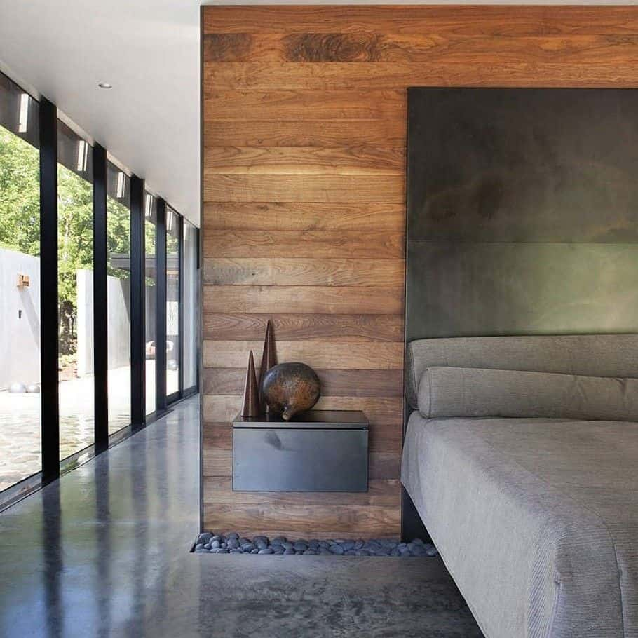 23 Amazing Ways To Style Your Console Table With Fall Decor: Steel-clad Dwelling Nestled In Rugged Terrain
