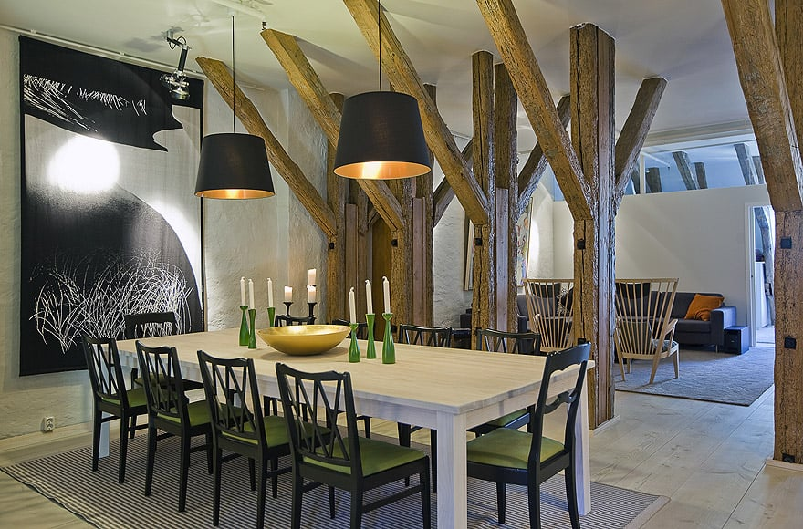 featured posts image for Modern-rustic apartment in Stockholm
