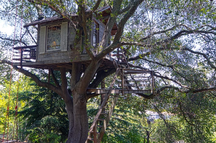 featured posts image for Magical treehouse within a fairytale garden