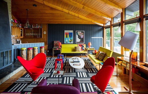 featured posts image for A colorful mid-century modern weekend getaway