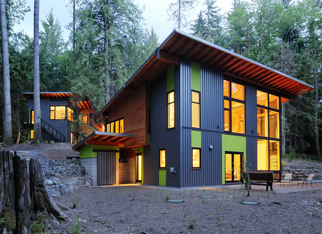 featured posts image for Contemporary forest retreat filled with light