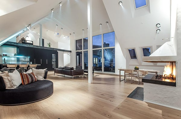 featured posts image for Ultra-modern Swedish pad with a loft