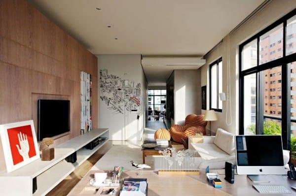 Striking union of two apartments in sao paulo - Casa ikea 50 mq ...