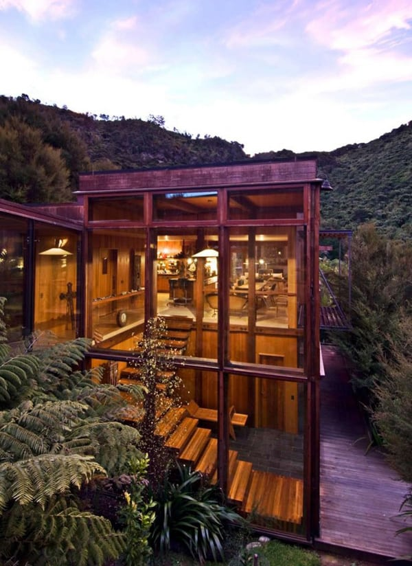 featured posts image for Stunning Waterfall Bay House in New Zealand