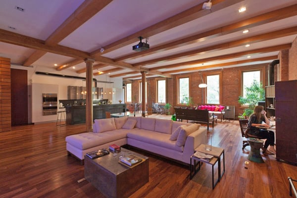 featured posts image for Industrial chic loft with open-plan interiors in NoHo