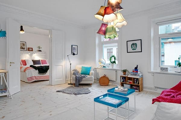 featured posts image for Charming bright and colorful Swedish flat