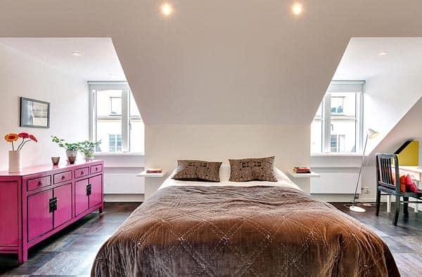 Lavish Loft In Sweden Showcasing Charming Details