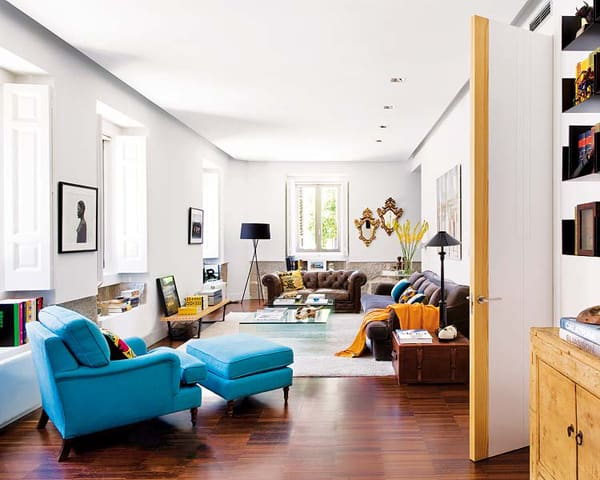 featured posts image for Inspiring apartment invaded by color in Madrid