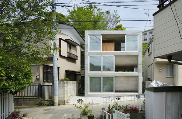 featured posts image for Uniquely structured narrow dwelling in Japan