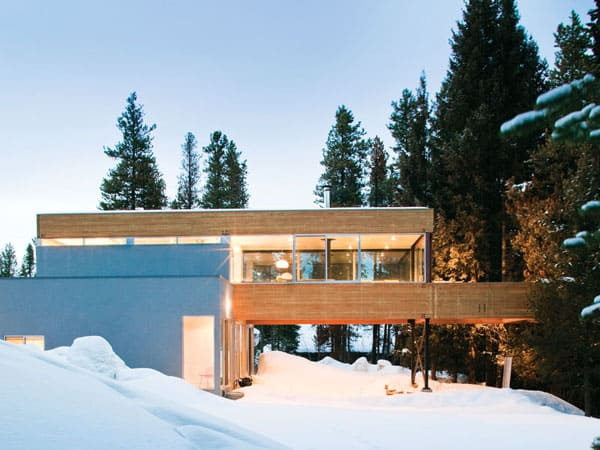 featured posts image for Modernist treehouse in the Rocky Mountains