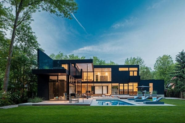 featured posts image for Sleek and sexy modern residence in Oakville, Canada