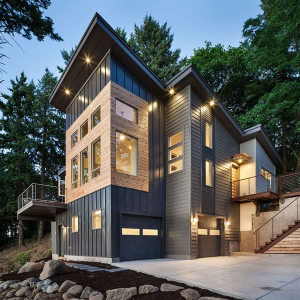 featured posts image for Hilltop house showcasing modern-rustic elements