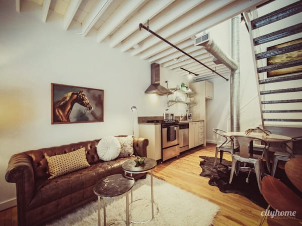 featured posts image for Small yet spacious loft infused with industrial charm