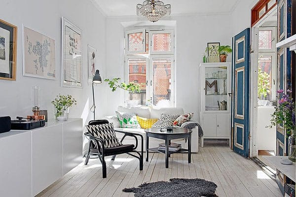 featured posts image for Charming Scandinavian style apartment interiors